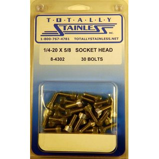 """Totally Stainless 1/4-20 x 5/8"""" Stainless Socket Head Bolts"""
