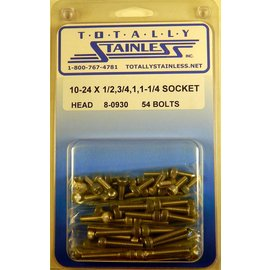 Totally Stainless 10-24 Assorted Socket Head Machine Screws - Panel 8 - #8-0930