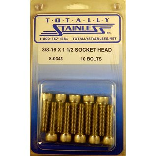 """Totally Stainless 3/8-16 x 1-1/2"""" Stainless Socket Head Bolts"""