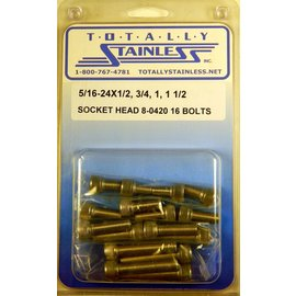 Totally Stainless 5/16-24 Stainless Assorted Socket Head Bolts