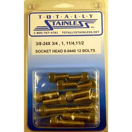 Totally Stainless 3/8-24 Assorted Socket Head Bolts - Panel 8 (G5) -  #8-0440