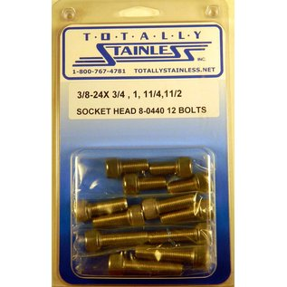 Totally Stainless 3/8-24 Stainless Assorted Socket Head Bolts