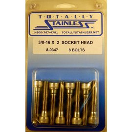 "Totally Stainless 3/8-16 x 2"" Stainless Socket Head Bolts"