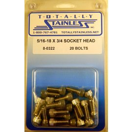 Totally Stainless 5/16-18 x 3/4 Socket Head Bolts - Panel 8 (D4) - #8-0322