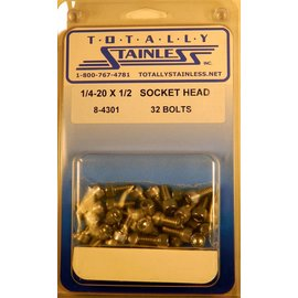 Totally Stainless 1/4-20 x 1/2 Socket Head Bolts- Panel 8 - #8-4301