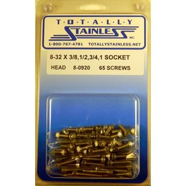 Totally Stainless 8-32 Assorted Socket Head Machine Screws - Panel 8 - #8-0920