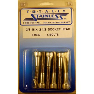 Totally Stainless 3/8-16 x 2-1/2 Socket Head Bolts- Panel 8 (G1) - #8-0349