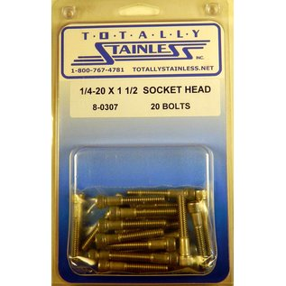 Totally Stainless 1/4-20 x 1 1/2 Socket Head Bolts- Panel 8 (D1) - #8-0307