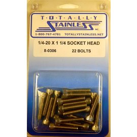 "Totally Stainless 1/4-20 x 1 1/4"" Stainless Socket Head Bolts"