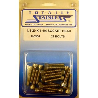 """Totally Stainless 1/4-20 x 1 1/4"""" Stainless Socket Head Bolts"""