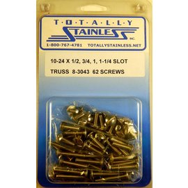 Totally Stainless 10-24x1/2, 3/4, 1, 1-1/4 Slotted Truss Head Machine Screws (G2) - Panel 10 - #8-3043