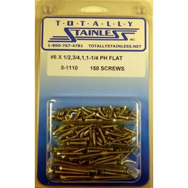 Totally Stainless #6 Phillips Flat Head Sheet Metal Screws (D3) - Panel 11 - #8-1110