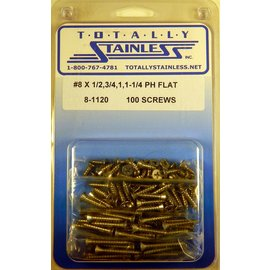 Totally Stainless #8 Phillips Flat Head Sheet Metal Screws - Panel 11 (D4) - #8-1120