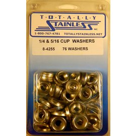 "Totally Stainless 1/4"" & 5/16"" Stainless Cup Washers"