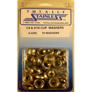 """Totally Stainless 1/4"""" & 5/16"""" Stainless Cup Washers"""