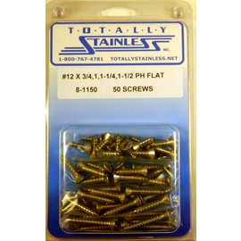Totally Stainless #12 Stainless Phillips Flat Head Sheet Metal Screws