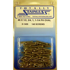 Totally Stainless #6 Stainless Phillips Oval Head Sheet Metal Screws