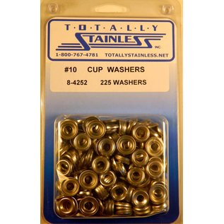 Totally Stainless #10 Stainless Cup Washers