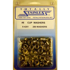 Totally Stainless #8 Stainless Cup Washers