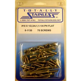 Totally Stainless #10 Phillips Flat Head Sheet Metal Screws  (D5) - Panel 11 - #8-1130