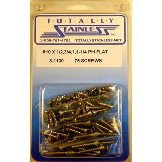 Totally Stainless #10 Stainless Phillips Flat Head Sheet Metal Screws
