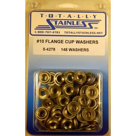 Totally Stainless #10 Stainless Flange Cup Washers