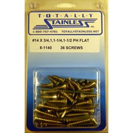 Totally Stainless #14 Phillips Flat Head Sheet Metal Screws (E2) - Panel 11 - #8-1140