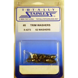 Totally Stainless #8 Stainless Trim Washers