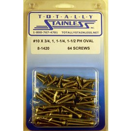 Totally Stainless #10 Phillips Oval Head Sheet Metal Screws (G3) - Panel 11 - #8-1420