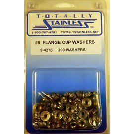 Totally Stainless #6 Flange Cup Washers (A4) - Panel 11 - #8-4276