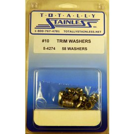 Totally Stainless #10 Stainless Trim Washers