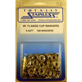 Totally Stainless #8 Stainless Flange Cup Washers