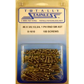 Totally Stainless #6 Phillips Round Head Sheet Metal Screws (E3) - Panel 11 - #8-1610