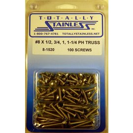 Totally Stainless #8 Phillips Truss Head Sheet Metal Screws (A2) - Panel 12 - #8-1520