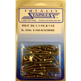 Totally Stainless #10 Slotted Oval Head Sheel Metal Screws (E5) - Panel 12 - #8-1443