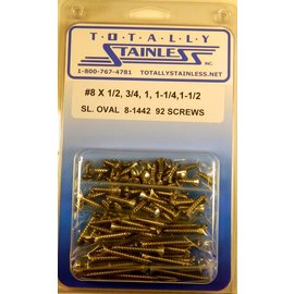 Totally Stainless #8 Stainless Slotted Oval Head Sheet Metal Screws