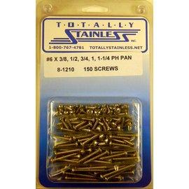Totally Stainless #6 Phillips Pan Head Sheet Metal Screws  (B4) - Panel 12 - #8-1210