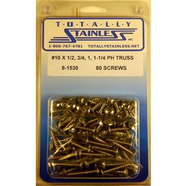 Totally Stainless #10 Stainless Phillips Truss Head Sheet Metal Screws