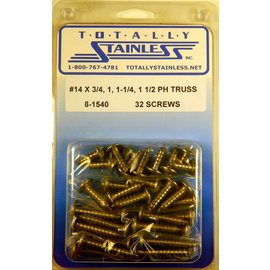 Totally Stainless #14 Phillips Truss Head Sheet Metal Screws (A5) - Panel 12 - #8-1540