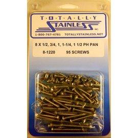 Totally Stainless #8 Phillips Pan Head Sheet Metal Screws (B5) - Panel 12 - #8-1220