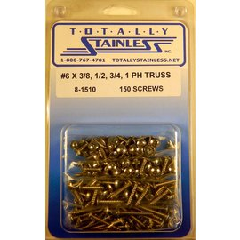 Totally Stainless #6 Phillips Truss Head Sheet Metal Screws  (A1) - Panel 12 - #8-1510
