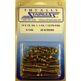 Totally Stainless #14 Phillips Pan Head Sheet Metal Screws  (C2) - Panel 12 - #8-1240
