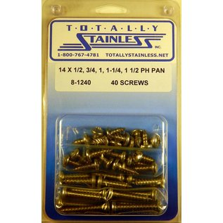 Totally Stainless #14 Stainless Phillips Pan Head Sheet Metal Screws