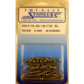Totally Stainless #10 Slotted Round Head Sheet Metal Screws  (F5) - Panel 12 - #8-1603