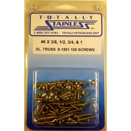 Totally Stainless #6 Stainless Slotted Truss Head Sheet Metal Screws