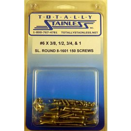 Totally Stainless #6 Stainless Slotted Round Head Sheet Metal Screws