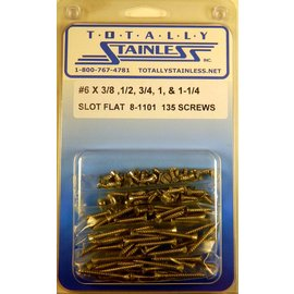 Totally Stainless #6 Slotted Flat Head Sheet Metal Screws  (C3) - Panel 12 - #8-1101