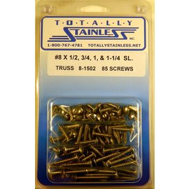 Totally Stainless #8 Stainless Slotted Truss Head Sheet Metal Screws