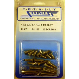 Totally Stainless #14 Slotted Flat Head Sheet Metal Screws