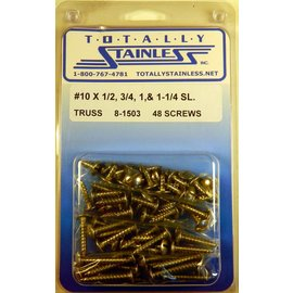 Totally Stainless #10 Slotted Truss Head Sheet Metal Screws (G4) - Panel 12 - #8-1503